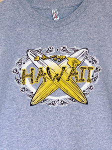 1990s Hawaii Tribal Tattoo Graphic Print Tee