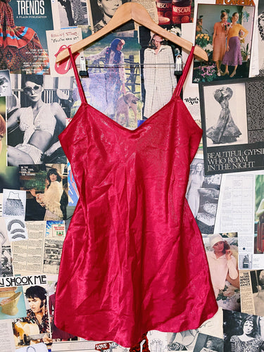 Bold & Romantic Red Glitter Slip with Bows