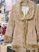 Caramel Faux Fur Collar & Cuffs Crushed Velvet Penny Lane Jacket
