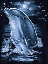 Oversized Dolphin Graphic Tee T-Shirt