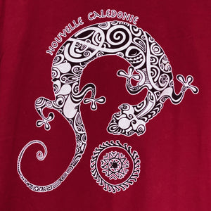 Red Gecko & Mandala Graphic Tee