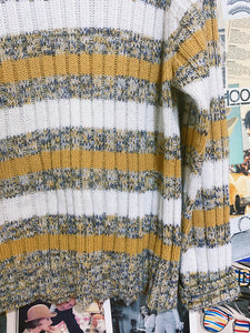 Vintage 1990s Passports by Delroy Mustard Striped Knit Jumper
