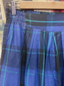 Vintage 1980s Forenza Blue Plaid Parachute Pants