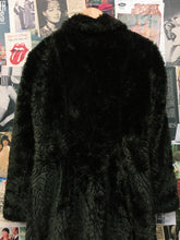 Vintage 1980's Selections Made in the U.S.A Brown Faux Fur Swirl Detail Coat