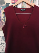 Vintage 1980's Had to Have Wine Red Dress w/ Lace Collar & Hem