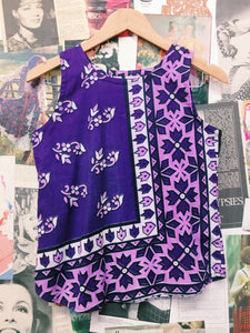 Boho Purple Batik Tank Top