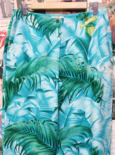 Designer Tommy Bahama 100% Silk Hawaiian Print Aqua Tie Up 3/4 Pants