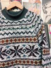 Retro Latte Wool Blend Cosby Style Nanna Knit Jumper