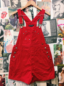 Red Hot Vintage No Boundaries Overalls