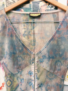 Review Bohemian Sheer Bell Sleeve Corset Top