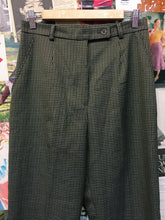 Vintage 1980's Designer Lucia Darling Brown Houndstooth Slacks