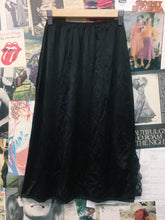 Vintage Black Lace Side Split Underskirt Petticoat