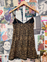 Leopard Print with Lace Trim Cotton Babydoll Slip