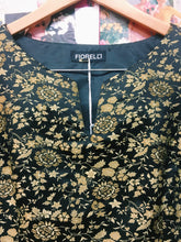 90s Gold Floral Brocade Top