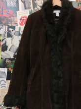 Vintage VTG 1990's Xcepsion Penny Lane Chocolate Brown Faux Fur Coat
