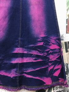 Hot Pink & Purple Tie Dye Mermaid Skirt