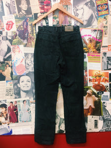 Vintage High Waist Mom Jeans in a Black Stonewash