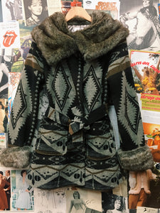 Faux Fur Navajo Princess Coat