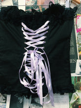 Gothic Corset w/ Purple Ribbons & Lace Trim