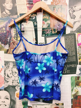 y2k Hawaiian Print Frangipani & Palm Tree Swim Tankini