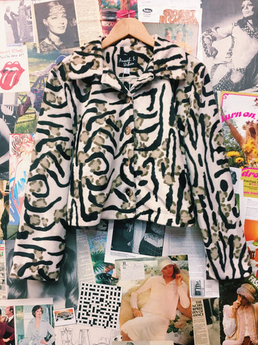 Designer Annah Stretton Animal Print Jacket
