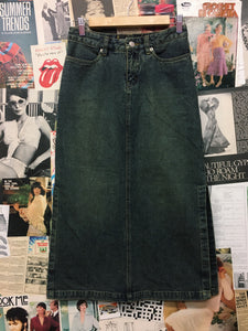 y2k High Waist Denim Pencil Skirt with Side Splits