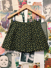 High Waist Floral Mini Skirt w/ Splits