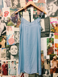 Baby Blue Sheer Slip Dress