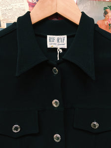 Vintage 90's Rif Raf Ribbed Cropped Jacket