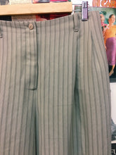 Vintage 1980s Lovers Pinstripe High Waist Straight Leg Slacks w/ Belt Loops