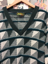 Vintage 1980s Perizzi Geometric Pattern Mens Knit Jumper