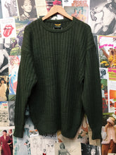 Men Vintage 1990s Dark Green Oversized Knit Sweater