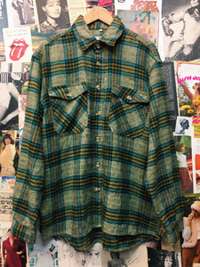 Vintage 1960s/1970s The World Downtown Denimworks Co Plaid Flannelette Jacket