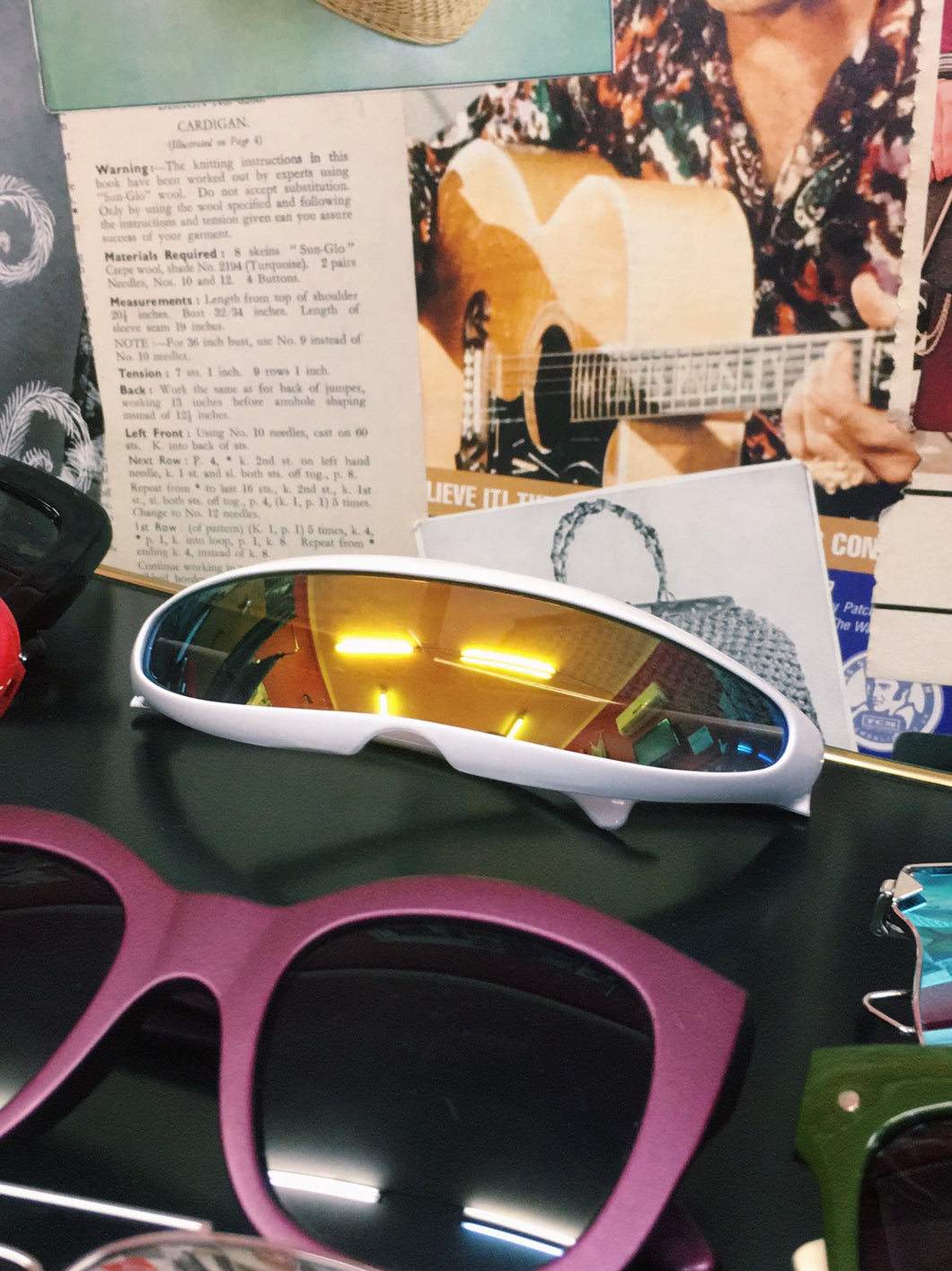 Terminator Multi-colour White Sunglasses