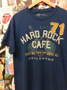Hard Rock Cafe Hollywood Love All Serve All Graphic Patchwork Tee