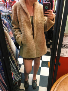 Vintage Sheepskin Heavy Teddy Bear Coat
