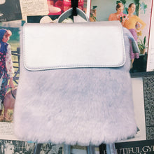 Festival Space Metallic Silver Faur Fur Backpack