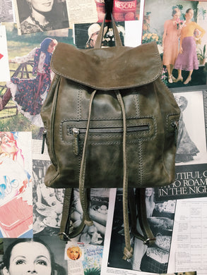 Colorado Genuine Leather Backpack in Olive