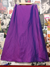 90's y2k Metallic Purple Maxi Skirt