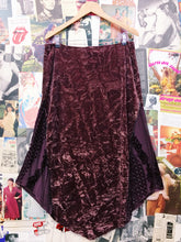 Designer Bandolera Dusty Pink Crushed Velvet Maxi Skirt w/ Beaded Embroidery & Floral Patchwork Detailing
