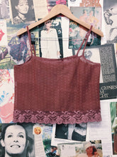 Mauve Polka Dot Sheer Lace Cami