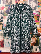 Zebra Print Furry Long Jacket