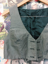 Designer Gingham Check Crop Top Vest