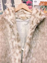 Vintage Snow Leopard Faux Fur Coat