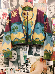 Navajo Printed Crop Jacket