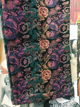 Vintage Indian Rose Floral Tapestry Cotton Multi-coloured High Waist Pants