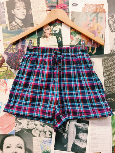 80's Plaid Shorts