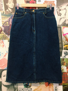Denim High Waist Straight Skirt