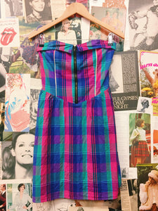 Pretty Pin-up Check Tube Dress