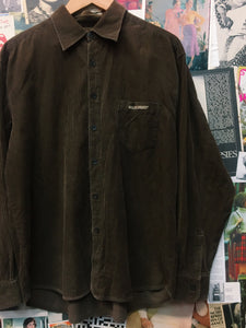 Vintage 1990's Surfbrand Golden Breed Chocolate Brown Corduroy Shirt